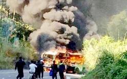 Xe khách đâm xe máy, cả 2 bốc cháy làm 1 người Hàn Quốc tử vong