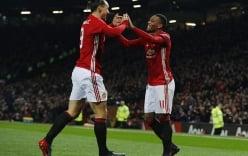 Ibrahimovic và Martial lập cú đúp, Man Utd hủy diệt West Ham