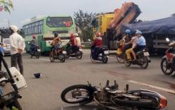 Va chạm xe buýt ở Sài Gòn, 1 phụ nữ tử vong