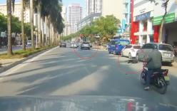 Video: Tài xế xe Mazda gây tai nạn, bỏ mặc nạn nhân nằm trên đường