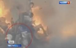 Video: Hai tay súng thoát chết khó tin trước tên lửa chống tăng Nga