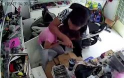 2 thanh niên dùng roi điện chích nữ chủ tiệm hớt tóc, cướp tài sản