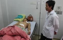 Nhân viên xe cấp cứu đâm bảo vệ bệnh viện trọng thương