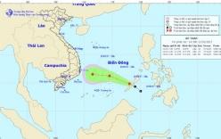 Vùng áp thấp trên Biển Đông đang mạnh lên