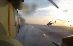 Video: Dàn trực thăng Nga phóng rocket diệt mục tiêu trên mặt đất