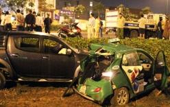 Xe tải tông taxi Mai Linh, 4 người bị thương