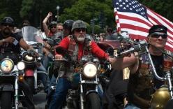 Video: Đội quân 5.000 quái xế bảo vệ lễ nhậm chức của Trump