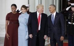 Trực tiếp lễ nhậm chức của Trump: Obama đón Trump tại Nhà Trắng