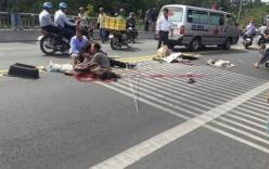 Người nằm la liệt trên đường sau tai nạn xe đám cưới tông container
