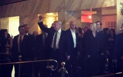 Video: Trump đi ăn tối cùng vợ chồng con gái ở khách sạn gia đình
