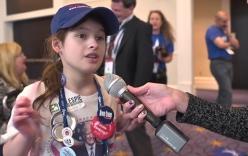 Video: Cô bé 11 tuổi hùng hồn tuyên bố lý do ủng hộ Trump