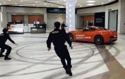 Cựu Đại tá Nga lái siêu xe Ferrari quậy tung trung tâm mua sắm