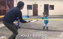 Khỉ đánh tennis như vận động viên gây xôn xao
