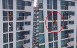 Video: Lính cứu hỏa tung cước cứu cô gái định nhảy lầu tự tử