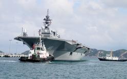 Cận cảnh tàu chiến lớn nhất Nhật Bản cập cảng Cam Ranh