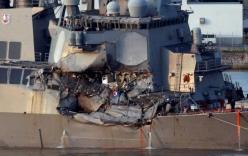 Tàu chiến Mỹ gặp nạn do không né tránh dù tàu hàng đã cảnh báo va chạm