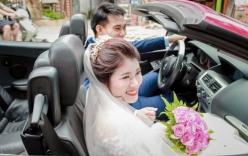 Cười đau ruột cảnh nàng dâu mới bị say xe, đeo khẩu trang nằm lả trên đùi chồng trong ngày cưới