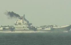 Tàu sân bay Trung Quốc nhả khói đen mù mịt, gây lo ngại lớn