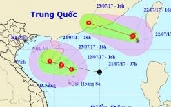 Bão số 3 và áp thấp nhiệt đới cùng xuất hiện trên Biển Đông