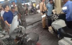 Người vi phạm đốt xe máy ngay tại bốt CSGT ở Hà Nội