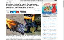 Hải Dương: Bác tin người dân sạc điện thoại bị điện giật cháy đen giữa nhà