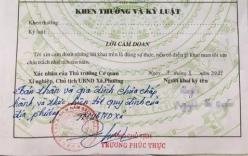 Bút phê của PCT xã trong sơ yếu lý lịch: Tỉnh yêu cầu xác nhận lại