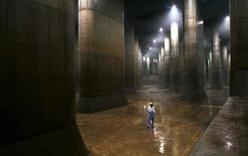 Hình ảnh cống thoát nuớc khổng lồ ở Nhật Bản