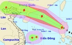 Bão số 7 di chuyển thần tốc, áp thấp nhiệt đới hướng vào Nam Trung Bộ