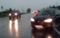 Hậu quả khủng khiếp khi ôtô mất lái trên đường trơn