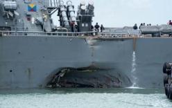 Kết quả điều tra bất ngờ vụ tàu chiến Mỹ bị đâm móp
