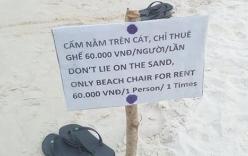 """Tấm biển """"cấm nằm trên cát"""" ở biển Phú Quốc khiến du khách bức xúc"""