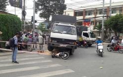 2 ông cháu bị xe tải cán tử vong trên đường đến trường