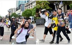"""Sự kiện """"cầm chảo chạy quanh phố đi bộ"""" của giới trẻ Hà Nội đổ bộ vào Sài Gòn"""