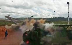 Video: Thót tim cảnh trực thăng Nga bắn trúng người xem tập trận