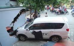 Đâm sập bức tường ki-ốt, lái xe bị đòi bồi thường 200 triệu đồng