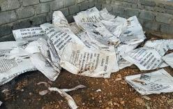 Quảng Bình: Kho hóa chất lạ phát lộ sau bão số 10