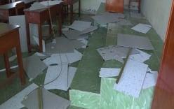Sập trần ở trường tiểu học, 9 học sinh phải nhập viện