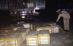 Bắt giữ xe tải chở hơn 1 tấn tai lợn ôi thiu trên đường vận chuyển
