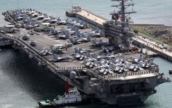 Siêu tàu sân bay Mỹ cập cảng Hàn Quốc, người dân lo sợ chiến tranh