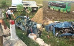 Đấu đầu xe khách, tài xế xe tải tử vong tại chỗ, nhiều người bị thương