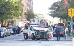 Hiện trường vụ tấn công khủng bố bằng xe tải tại New York