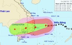 Sóng biển vùng tâm bão số 12 cao 6 - 8m, Quảng Trị đến Bình Thuận có mưa đặc biệt to