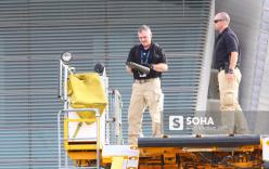 Mật vụ Mỹ đến sân bay, Air Force One sẵn sàng đưa tổng thống Trump rời Đà Nẵng ra Hà Nội