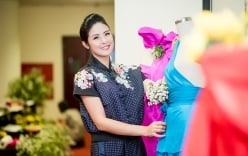 Hoa hậu Ngọc Hân giới thiệu bộ sưu tập mới tại \