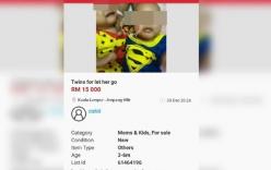 Cha mẹ rao bán 2 con sinh đôi 4 tháng tuổi trên mạng vì không thể chăm sóc