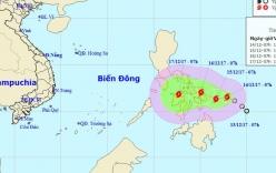 Bão KAI-TAK giật cấp 10 gần Biển Đông có diễn biến phức tạp