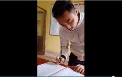 Chàng trai run rẩy ký giấy chứng nhận kết hôn khiến nhiều người liên tưởng tới việc