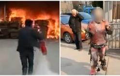 Lao vào biển lửa để tìm điện thoại, người đàn ông biến thành đuốc sống