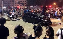 Ô tô điên lao vào đám đông ở bãi biển, bé 8 tuổi tử vong