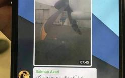 Hình ảnh cuối cùng của chiếc máy bay tử thần trong tin nhắn hành khách: \